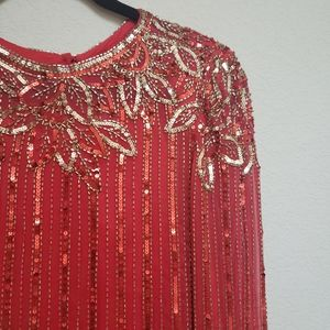 Vintage Sequined and Beaded Party Dress